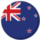New Zealand Country Flag 25mm Flat Back